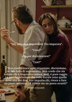 Risultati immagini per monologhi film sai che una cosa l'ho imparata cosa? Perfect Strangers, Yoga Quotes, Phobias, Life Inspiration, Love Words, Film, Positive Vibes, Life Lessons, Quotes To Live By
