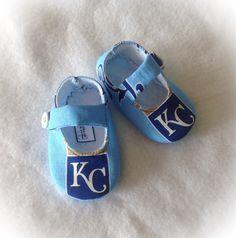 KC Royals Baby Shoes, Etsy listing at https://www.etsy.com/listing/241586735/baby-girl-shoes-kansas-city-royals