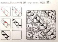 Zentangle pattern -HUA by Damy Teng