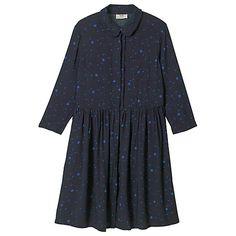 Buy Scatter Star Midnight/Bluebird hush Blossom Dress from our Women's Dresses range at John Lewis & Partners. Edgy Look, Hush Hush, Blue Bird, Dresses Online, Size 10, Short Sleeve Dresses, Leather Jacket, Shirt Dress, Fabric