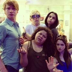 Austin and Ally with random girl