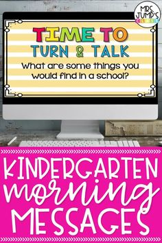 Looking for a kindergarten morning routine that helps students review important early literacy and math skills? These Kindergarten Morning Message slides are a great digital resource for starting the day in kindergarten!
