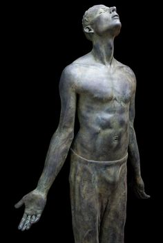 Lotta Blokker / I am here now, 2008, bronze #sculpture #men #stone