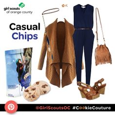 Casual Outfit Inspired by the Chocolate Chip Gluten Free Girl Scout Cookie