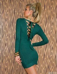 Minikleid mit Schnürleisten, Longshirt, Shirt, Kleid, Pullover  36/38 S/M