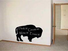 vinyl chalkboard bison...