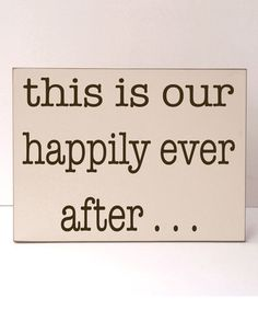 Cream & Brown 'Our Happily Ever After' Wall Sign