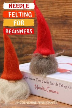 Time to hunker down with Lincolnshire Fenn Crafts for a creative Christmas, and nothing shouts Christmas more than this delightful Santa needle felting kit for beginners. Cost: Time to complete: Approx hours Worldwide shipping A great start t Needle Felting Kits, Needle Felted Animals, Wool Felting, Creative Christmas Gifts, Christmas Crafts, Xmas, Diy Gifts On A Budget, Craft Kits, Craft Ideas