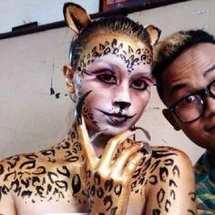 #face #facemakeup #SPECIALEFFECT #faceoff #makeupcharacter #leopardmakeup #fantasimakeup