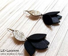 leather earrings LK-Lockers - Accessori in Pelle - LK-Lockers – Accessori in pelle: Nero… una passione