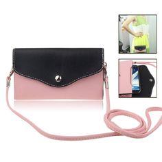 Bescherm je precious smartphone met deze fancy, universele zwart/roze bag case. Er is genoeg ruimte voor je meest gebruikte pasjes en is naast super, vuil- en vlek afstotend