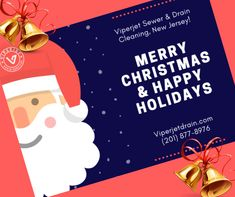Northern New Jersey Plumbing Company - Viperjet sewer and drain cleaning is the most trusted plumbing company provides all plumbing repairs and installations - sewer & drain cleaning, residential plumbing and commercial plumbing as well. Sewer Drain Cleaning, Residential Plumbing, Recycling Services, Commercial Plumbing, Drain Cleaner, Joyful, New Jersey, Merry Christmas, Seasons