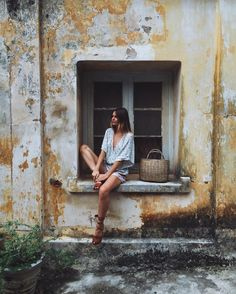 The backstreets of Galle Fort. Wearing one of my favourite @faithfullthebrand playsuits  #faithfulltravels by tuulavintage