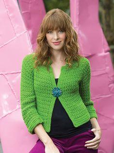 Sparkling Crochet Cardi by Heather Lodinsky