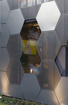 The Uncanny Honeycomb Inspired Estar Móveis Store in Brazil