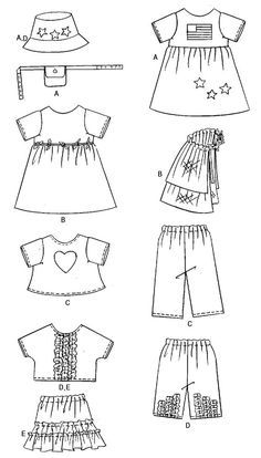 Free Printable Doll Clothes Patterns | images butterick