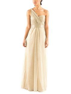 Grecian One Shoulder Bridesmaids
