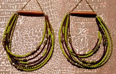 Namibia Tribal  Hoops  African Jewelry  Tribal by SANKOFAFREE, $35.00