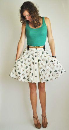 Deer Skirt Altered. $55.00, via Etsy.
