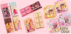 Buy Kawaii Scented Chocolate Bar Eraser Set of 2 at Tofu Cute