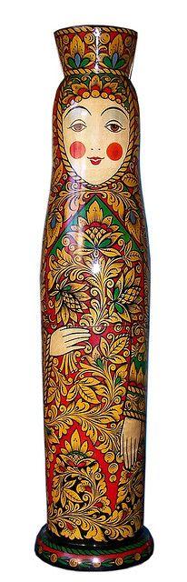 I love this super tall wooden natryoshka nesting doll. Matryoshka Doll, Kokeshi Dolls, Doll Painting, Painting On Wood, Popular Paintings, Wooden Dolls, Russian Art, Paper Dolls, Folk Art