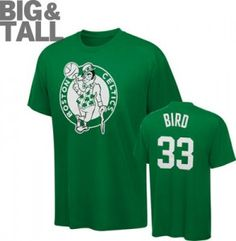 Boston Celtics Big, Tall, Plus Size Clothing  Sizes 2X, 3X, 4X, 5X, 6X, XLT, 2XT, 3XT, 4XT. Larry Bird T-Shirt.