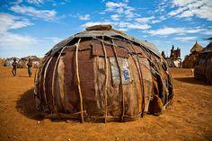 Africa |  Traditional hut in the village Dassanech-lower omo valley-ethiopia