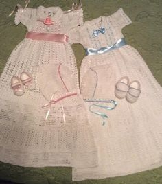 (4) Name: 'Crocheting : Liam and Lia christening outfit pattern