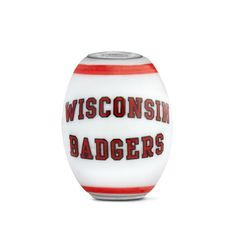 Wisconsin Collegiate Milk Glass Cornerstone Bead | Fenton Glass Jewelry