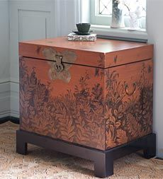 Handpainted Butterfly Storage Chest from www.windandweather.com