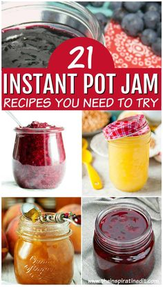 Pot Jam Recipes You Will Love · The Inspiration Edit - Instant Pot Jam is quite fun to make and really enjoyable. I always loved making strawberry jam wit -Instant Pot Jam Recipes You Will Love · The Inspiration Edit - Instant Pot Jam is quite fun to m. Instant Pot Pressure Cooker, Pressure Cooker Recipes, Pressure Cooking, Best Instant Pot Recipe, Instant Pot Dinner Recipes, Instant Recipes, Making Strawberry Jam, Strawberry Jam Recipes, Strawberry Blueberry Jam