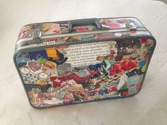 Vintage Featherlite Decoupage Suitcase by customeighteighty