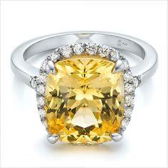 Yellow sapphire ring from Joseph Jewelry http://www.weddingchicks.com/2015/02/03/sparkling-engagement-rings-joseph-jewelry/