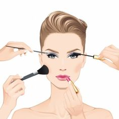 Group of: Fashion Illustrations / #illustration #maquiagem #make ...