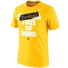 Nike Wichita State Shockers 2013 Men's Basketball Tournament Final Four Bound State Of Mind T-Shirt - Gold  Price: $24.95
