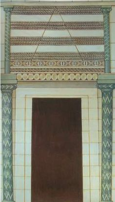 Entrance of the Tholos of Atreus (reconstruction) - Mycenae (Greece)