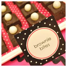 brownie bites with candy