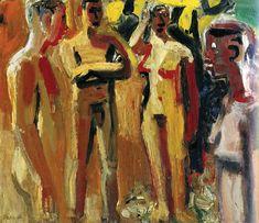 alongtimealone: David Park Ethiopia 1959 Oil on canvas Lowe Art Museum, University of Miami Bay Area Figurative Movement, Figurative Kunst, San Francisco Art, Art Icon, Figure Painting, Painting Art, American Artists, Art Museum, Art History