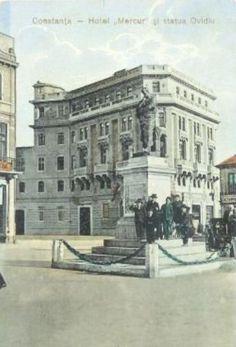 CONSTANTA - HOTEL MERCUR - 1917 Bucharest Romania, Black Sea, Old Town, Old Photos, Coast, Louvre, Country, City, Building