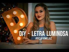 DIY :: Letras Luminosas, SUPER FÁCIL! Para Decorar seu cantinho - YouTube