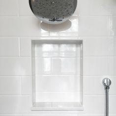 "Floor And Decor Bathroom Niche - Floor And Decor Bathroom Niche Floor & Decor North Richland Hills, Texas store[[caption id="""" align=""aligncenter"" Built In Shower Shelf, Tile Shower Shelf, White Subway Tile Shower, Subway Tile Showers, Bathroom Niche, Shower Niche, Small Bathroom, Master Bathroom, Bathroom Ideas"