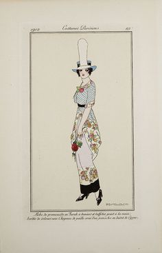 "Fashion Plate from ""Costumes Parisiens"": 1912, Walking dress..."