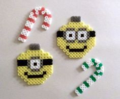 Decorative Despicable Me Minion Ornaments by SkellieBeads on Etsy