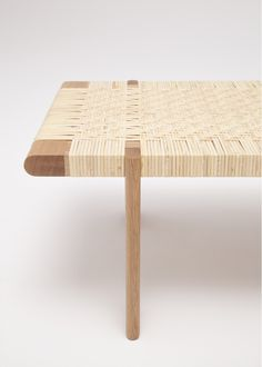 Rattan Bench is a minimal bench created by Canada-based designer Thom Fougere. Baby Furniture Sets, Rattan Furniture, Modern Furniture, Furniture Design, Natural Furniture, Furniture Decor, Painted Chairs, Metal Chairs, Diy Chair