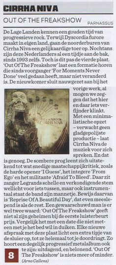 "Rating: 8/10 ""Like good prog should be: challenging & rewarding"" – CD Review - Out of the Freakshow, - Rock Tribune (B)"