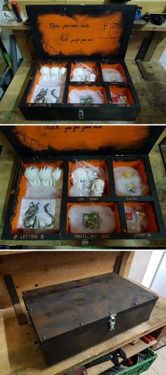 Very cool #Halloween night cache GC7E2MM. I like how there are even themed FTF, STF, and TTF #geocache prizes.  (GeocachingWLampay pics)  #IBGCp