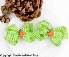 #Thanksgiving Hair Bows for Girls Fall Pumpkin by SheWearsitWell, $13.50