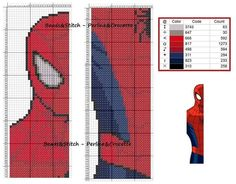 marque page spiderman Cross Stitch For Kids, Just Cross Stitch, Cross Stitch Charts, Cross Stitch Designs, Cross Stitch Patterns, Cross Stitch Bookmarks, Cross Stitch Books, Crochet Bookmarks, Beaded Bookmarks