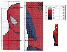 Cross stitch chart Marvel Spiderman bookmark superhero