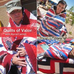Meet Pattern Designer and Quilts of Valor Regional Coordinator Alycia Carmin of Alycia Quilts. Click: http://www.craftsy.com/ext/Pin_BP_20121106